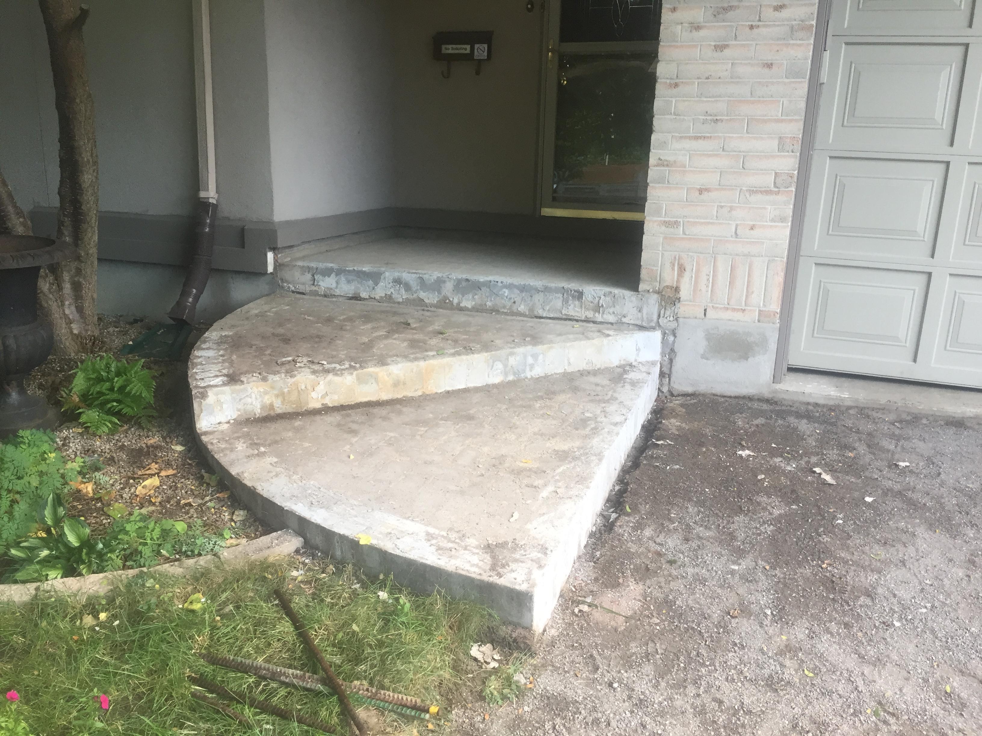 concrete step overlays